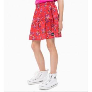 Calvin Klein Jeans rok met bloemenprint in de kleur rood