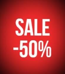 -50% korting op geselecteerde items
